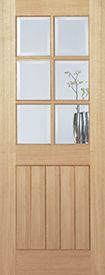 Internal Oak Mexicano 6L Glazed Door